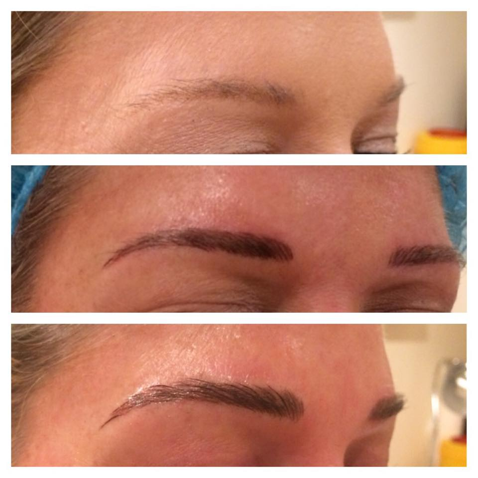Eyebrow embroidery before after for 1 salon eyebrow embroidery