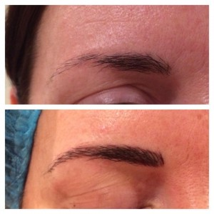 Eyebrow Embroidery Before & After