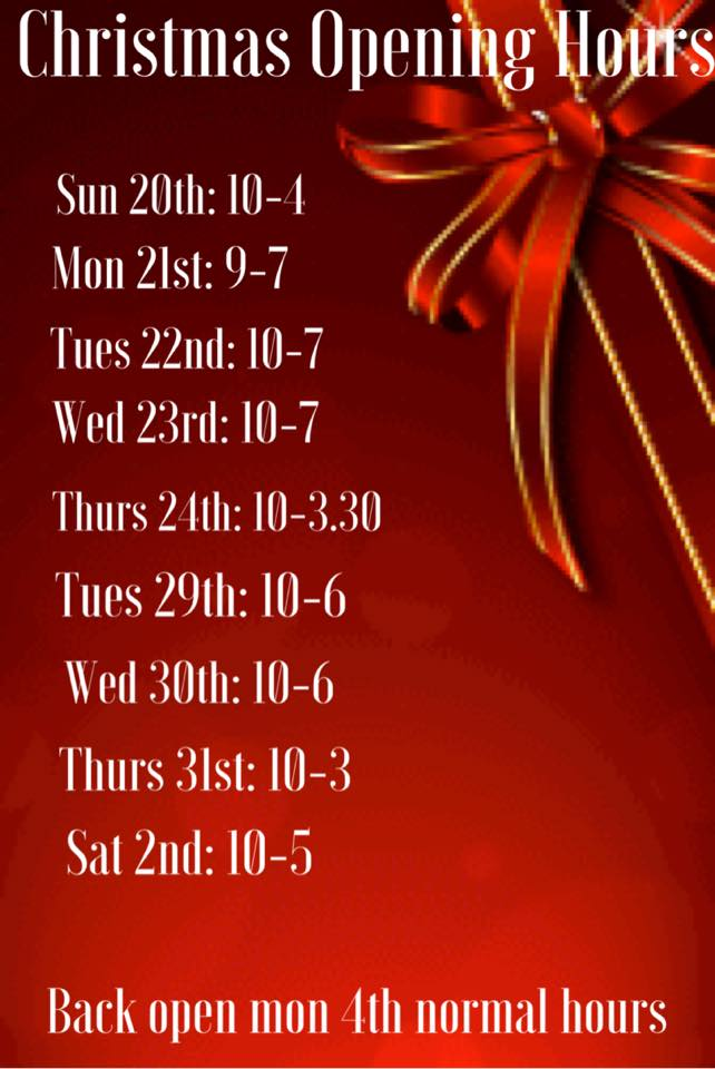 Christmas Opening Hours Revive Clinic
