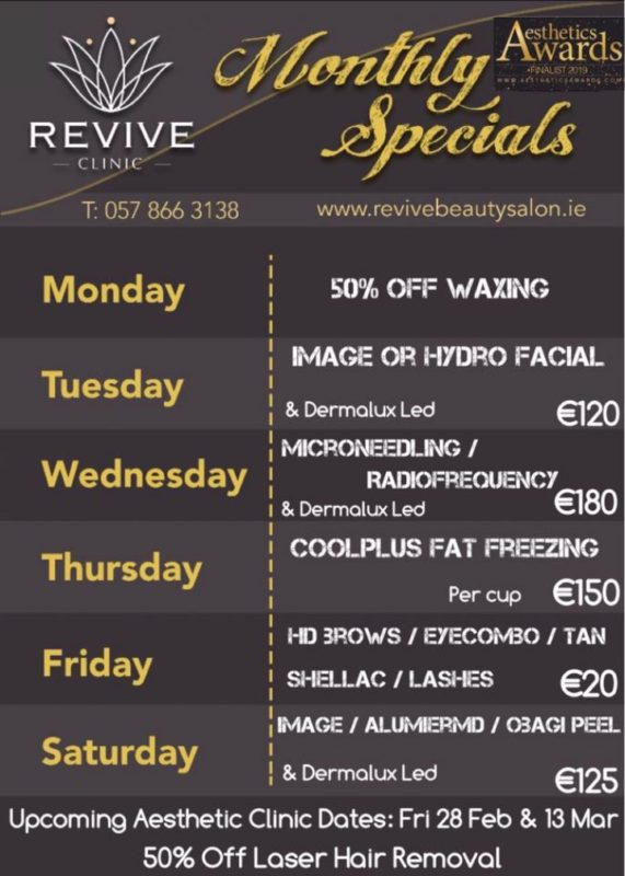 offers revive clinic